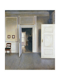 Woman in an Interior, Strandgrade 30, 1901 Giclee Print by Vilhelm Hammershoi