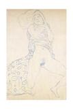 Nude; Halbakt, 1913 (Nude; Halbakt Gustav Klimt (1862-1918)) Giclée-Druck von Gustav Klimt