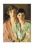 The Sisters, Joan and Marjory, 1927 Gicléetryck av Sir John Lavery