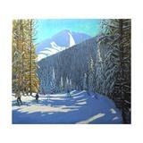 Skiing, Beauregard La Clusaz, 2012 Impressão giclée por Andrew Macara