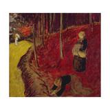 Fern Gatherers in the Bois d'Amour at Pont Aven; Les Ramasseuses de Fougeres Au Bois d'Amour a… Gicléetryck av Paul Serusier