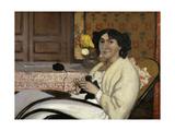 Portrait de Madame Rodrigues-Vallotton, the Artist's Wife, 1902 Giclee Print by Félix Vallotton