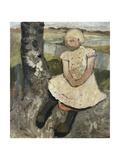 Child Sitting under a Tree; Kind Sitzend Unter Einem Baum, c.1905 Reproduction procédé giclée par Paula Modersohn-Becker