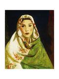 Mexican Girl with Oriental Scarf, 1916 Giclée-tryk af Robert Henri