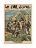 Subjects of the New Kingdom, Albanian Types, Front Cover Illustration from 'Le Petit Journal',… Reproduction procédé giclée par  French School