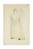 Woman in Evening Dress, 1912 Impressão giclée por Charles Demuth