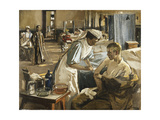 The First Wounded, London Hospital, 1914, 1914 Giclée-tryk af Sir John Lavery