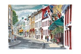 Quebec, Old City, Canada, 2010 Stampa giclée di Anthony Butera