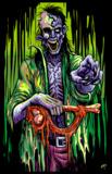 Zombie Stalker Flocked Blacklight Poster Posters