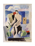 Man in the Country, Study for Paludes; Homme Dans Un Paysage, Etude Pour Paludes, c.1920 Giclee-trykk av Roger de La Fresnaye