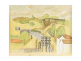 Study for the Meulan Viaduct; Etude Pour Le Viaduc de Meulan, 1912 Giclee-trykk av Roger de La Fresnaye