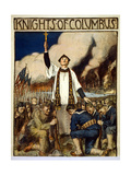 Knights of Columbus, 1917 Giclee Print by William Balfour Kerr