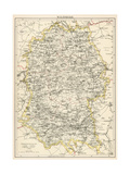 Map of Wiltshire, England, 1870s Giclee Print