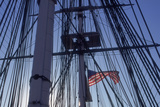USS Constitution's Masts and Rigging, Boston Photographic Print