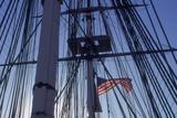 USS Constitution's Masts and Rigging, Boston Stampa fotografica