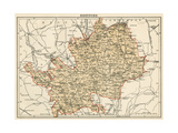 Map of Hertfordshire, England, 1870s Giclee Print