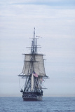 "USS Constitution ""Old Ironsides"" Under Sail, Massachusetts Bay, Celebrating Its Bicentennial, 1997 Stampa fotografica"