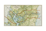 Panama Canal Zone Map, 1913 - north Diagonally Left Fotografie-Druck
