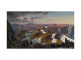 North-east View From the Northern Top of Mount Kosciusko Giclée-tryk af Eugene Von Guerard