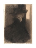Portrait of a Lady With Cape And Hat Giclée-Druck von Gustav Klimt