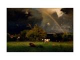 Rainbow Giclée-tryk af George Inness