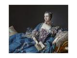 Portrait of the Marquise De Pompadour (1721-1764) Reproduction procédé giclée par Francois Boucher