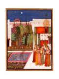 Four Women in a Palace Garden Giclee Print