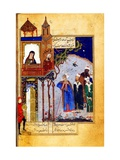 Miniature From the 'Conference of the Birds' by Attar of Nishapur Giclée-tryk