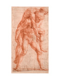 Young Man Carrying An Old Man on His Back (Aeneas And Anchises) Reproduction procédé giclée par  Raphael