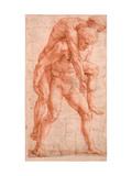 Young Man Carrying An Old Man on His Back (Aeneas And Anchises) Giclée-vedos tekijänä Raphael,