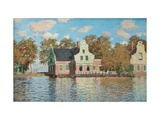Houses At the Bank of the River Zaan Giclée-Druck von Claude Monet