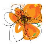 Orange Petals 2 Affischer av Jan Weiss