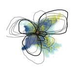 Azure Petals Two Kunstdrucke von Jan Weiss