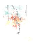 Orange Floral Splash Poster von Jan Weiss