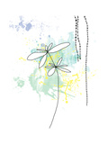 Yellow Floral Splash Affiches par Jan Weiss