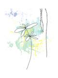 Yellow Floral Splash Kunstdrucke von Jan Weiss