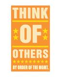 Think of Others Láminas por John Golden
