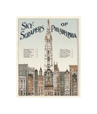 Skyscrapers of Philadelphia, c. 1898 Giclee-trykk av  Vintage Reproduction