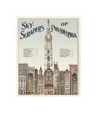 Skyscrapers of Philadelphia, c. 1898 Stampa giclée di  Vintage Reproduction
