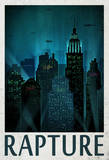Rapture Retro Travel Poster Stampa