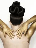 Strahlendes Gold Fotografie-Druck von Sarah Silver