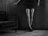 Woman's Legs Fotografie-Druck von Alex Cayley