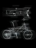 Bicycles in Motion Fotografie-Druck von Graeme Montgomery