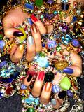 Gemstones and Nails Fotografie-Druck von Graeme Montgomery