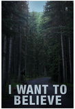 Bigfoot I Want To Believe Poster