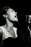Billie Holiday Signing Music Plastic Sign Muovikyltit