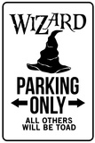 Wizard Parking Only Sign Plastic Sign Placa de plástico
