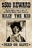 Billy The Kid Western Wanted Plastic Sign Plastskilt
