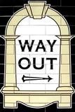 London Underground Way Out Sign RetroMetro Plastic Sign Muovikyltit