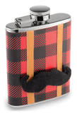Lumberjack Flask with Removable Mustache (7oz) Flask